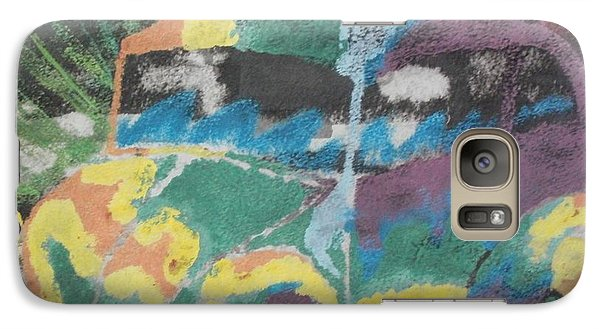 Galaxy Case featuring the painting Tie-dye Beetle by Thomasina Durkay