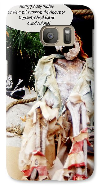 Galaxy Case featuring the photograph Tied Up Pirate by Gary Brandes