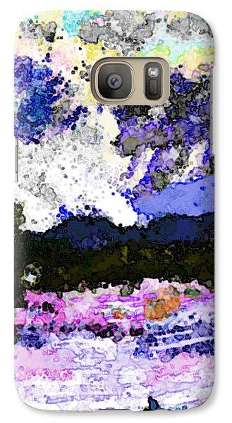 Galaxy Case featuring the digital art Tierra Amarilla Storm Sketch I by Anastasia Savage Ealy