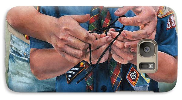 Galaxy Case featuring the painting Ties That Bind by Lori Brackett