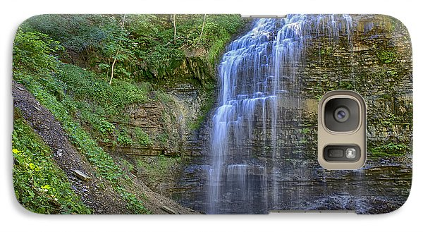 Galaxy Case featuring the photograph Tiffany Falls In Summer by Gary Hall