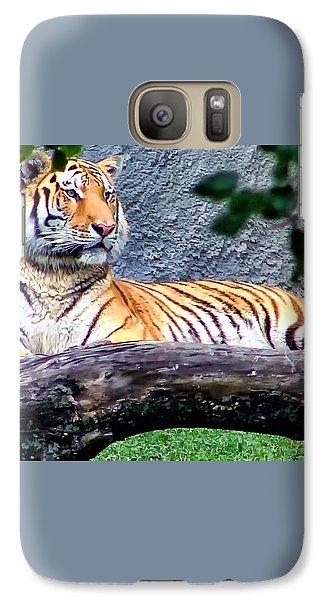 Galaxy Case featuring the photograph Tiger 1 by Dawn Eshelman