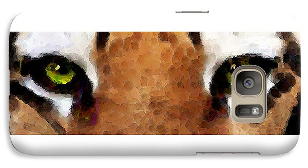 Tiger Art - Hungry Eyes Galaxy S7 Case by Sharon Cummings