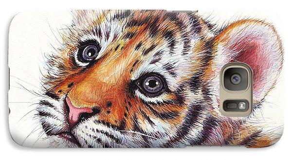 Tiger Cub Watercolor Painting Galaxy S7 Case