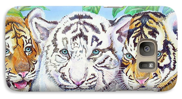 Galaxy Case featuring the painting Tiger Cubs by Thomas J Herring