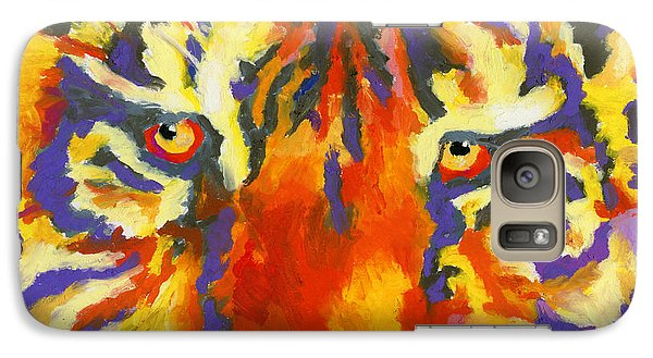 Galaxy Case featuring the painting Tiger Eyes by Stephen Anderson