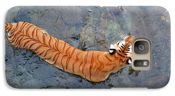 Galaxy Case featuring the photograph Tiger In The Stream by Robert Meanor