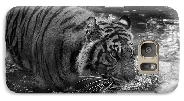 Galaxy Case featuring the photograph Tiger In The Water by Lisa L Silva