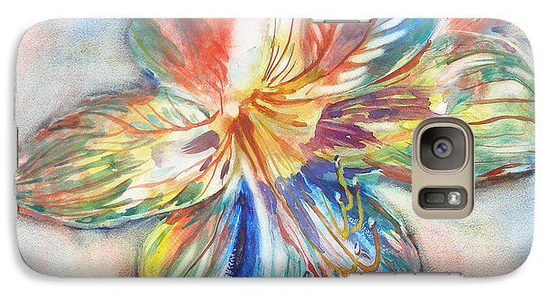 Galaxy Case featuring the painting Tiger Lilly by Mary Haley-Rocks