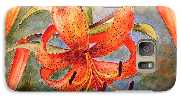 Galaxy Case featuring the painting Tiger Lily by Carol Grimes