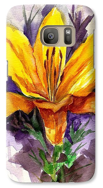 Galaxy Case featuring the painting Tiger Lily by Ellen Canfield