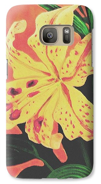 Galaxy Case featuring the painting Tiger Lily by Sophia Schmierer