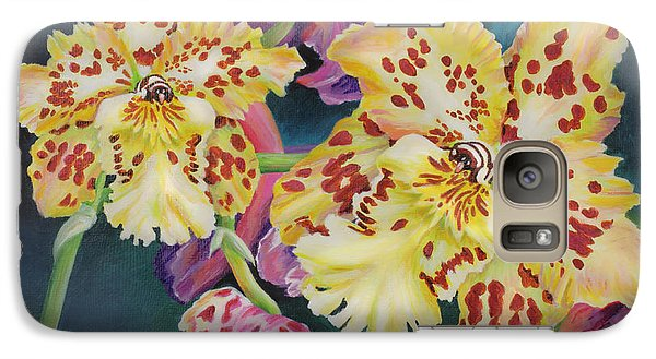 Galaxy Case featuring the painting Tiger Orchid by Jane Girardot