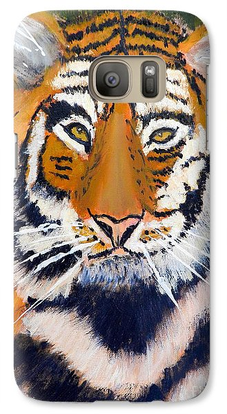 Galaxy Case featuring the painting Tiger by Pamela  Meredith