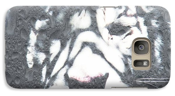 Galaxy Case featuring the photograph Tiger Rain by Amanda Eberly-Kudamik