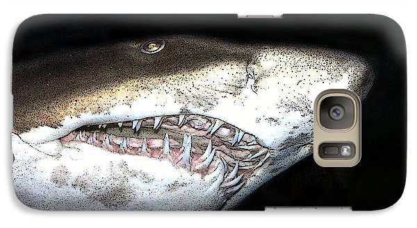 Galaxy Case featuring the photograph Tiger Shark by Sergey Lukashin