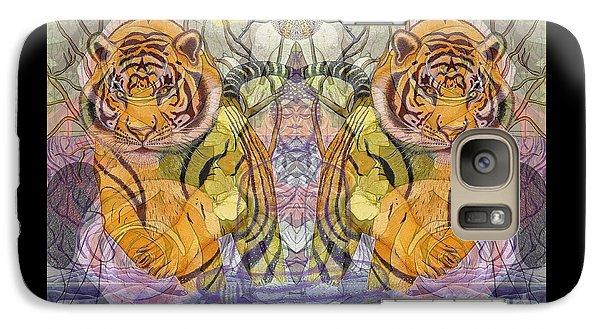 Galaxy Case featuring the painting Tiger Spirits In The Garden Of The Buddha by Joseph J Stevens