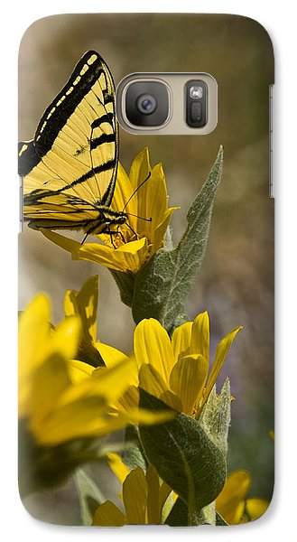 Galaxy Case featuring the photograph Tiger Swallowtail Butterfly by Janis Knight