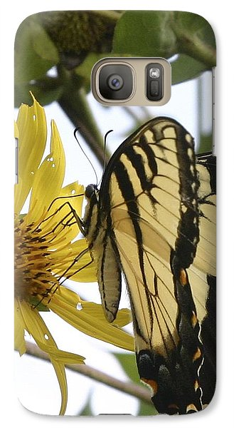 Galaxy Case featuring the photograph Tiger Swallowtail by Phyllis Peterson