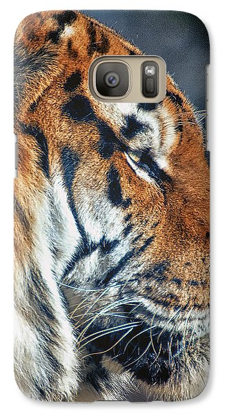 Galaxy Case featuring the photograph Tiger Watch by Chris Boulton