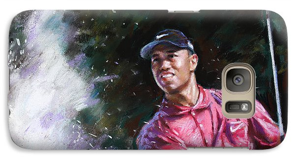 Galaxy Case featuring the drawing Tiger Woods  by Viola El