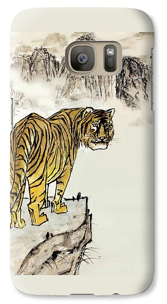 Galaxy Case featuring the painting Tiger by Yufeng Wang