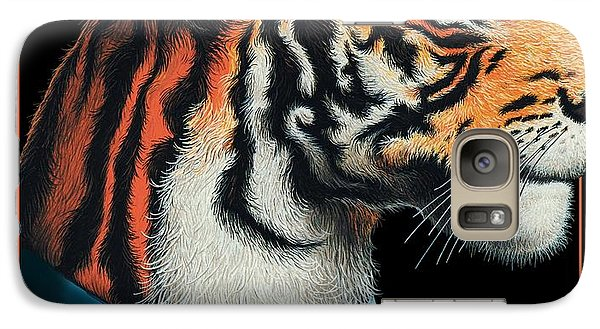 Galaxy Case featuring the digital art Tigerman by Scott Ross