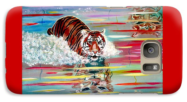 Galaxy Case featuring the painting Tigers Crossing by Phyllis Kaltenbach