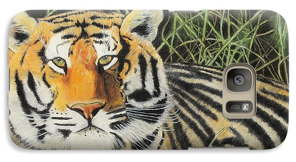 Galaxy Case featuring the painting Tigress by Jeanne Fischer