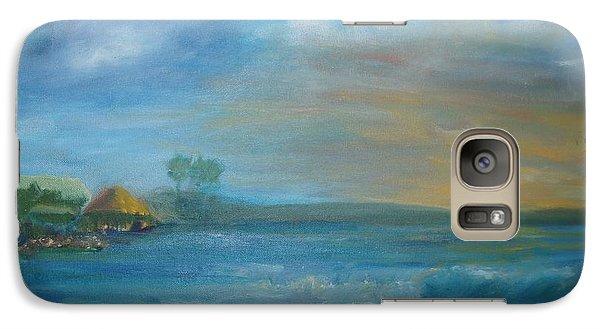 Galaxy Case featuring the painting Tiki Hut by Kristine Bogdanovich