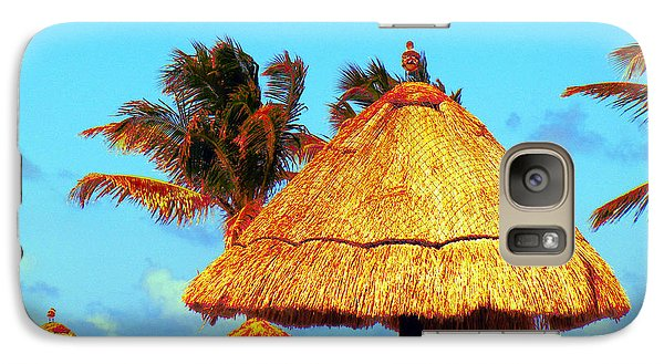 Galaxy Case featuring the photograph Tiki Huts by J Anthony