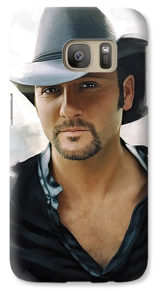 Galaxy Case featuring the painting Tim Mcgraw Artwork by Sheraz A