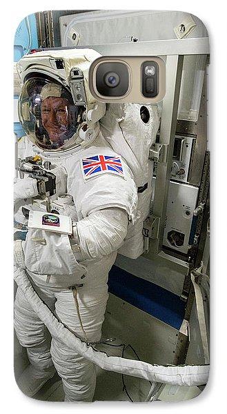 Tim Peake Preparing For Spacewalk Galaxy S7 Case by Nasa