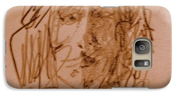 Galaxy Case featuring the drawing Tim by Steven Holder
