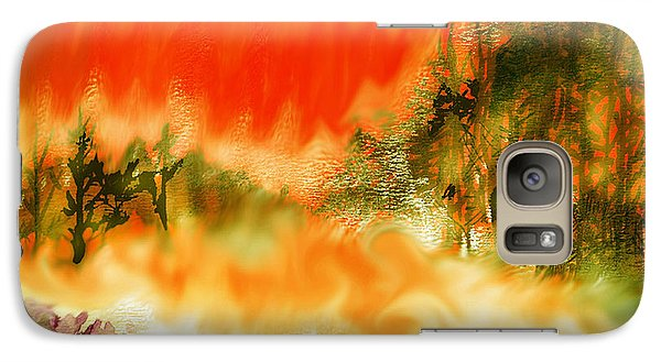 Galaxy Case featuring the mixed media Timber Blaze by Seth Weaver