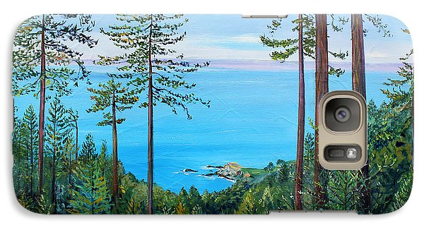 Galaxy Case featuring the painting Timber Cove On A Still Summer Day by Asha Carolyn Young