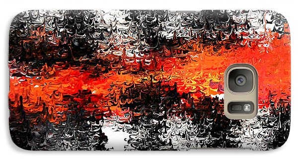 Galaxy Case featuring the painting Timber by Cyryn Fyrcyd
