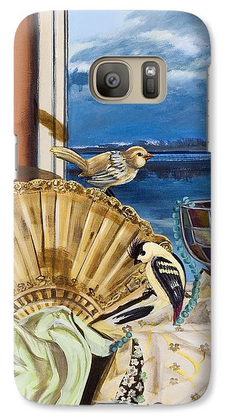 Galaxy Case featuring the painting Time Flies by Susan Culver