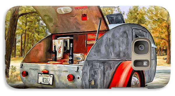 Galaxy Case featuring the painting Time For Camping by Michael Pickett