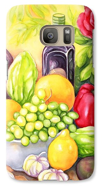 Galaxy Case featuring the painting Time For Fruits And Vegetables by Inese Poga