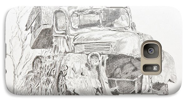 Galaxy Case featuring the painting Time Forgotten by Mary Haley-Rocks