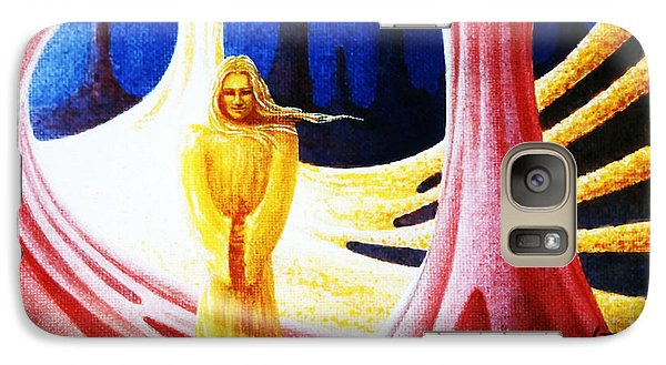 Galaxy Case featuring the painting Time Master by Hartmut Jager