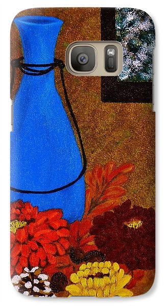 Galaxy Case featuring the painting Time To Decorate by Celeste Manning