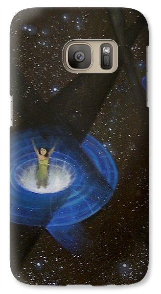 Galaxy Case featuring the painting Time Travel by Min Zou