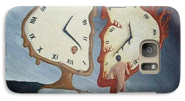 Galaxy Case featuring the painting Time Travel by Steve  Hester