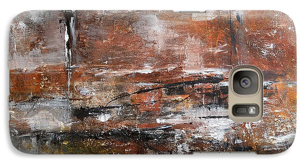 Galaxy Case featuring the painting Timeless - Abstract Painting by Ismeta Gruenwald