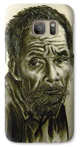 Galaxy Case featuring the drawing Timeworn by Lori Ippolito