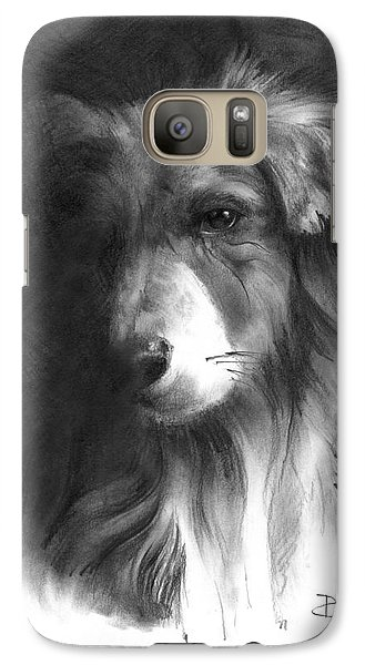 Galaxy Case featuring the drawing Timmy by Paul Davenport