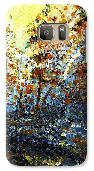 Galaxy Case featuring the painting Tim's Autumn Trees by Holly Carmichael