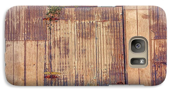 Galaxy Case featuring the photograph Tin Door by Lewis Mann